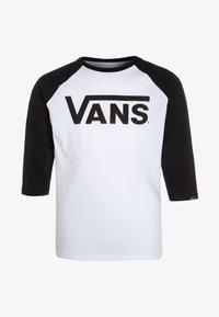 Vans - BY VANS CLASSIC RAGLAN BOYS - Longsleeve - white/black - 6