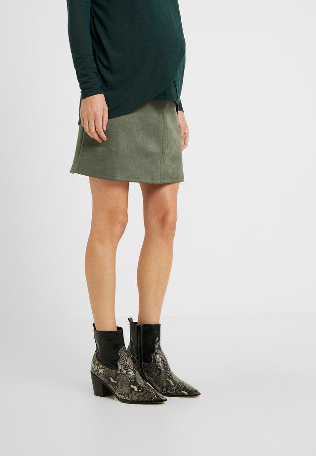 Denim skirt - shale green