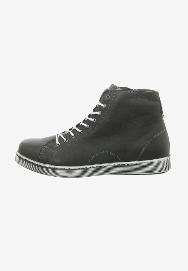 Lace-up ankle boots - schiefer