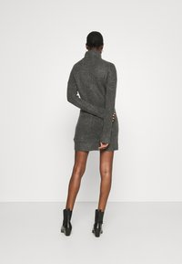 Abercrombie & Fitch - TEXTURAL CREW DRESS - Jumper dress - dark gray heather - 2