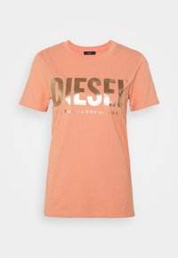 Diesel - T-SILY-WX T-SHIRT - Print T-shirt - apricot - 4