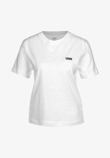 WM JUNIOR V BOXY - Print T-shirt - white