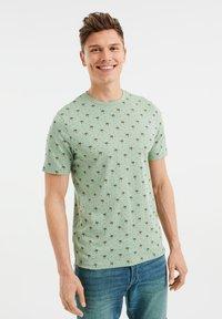 WE Fashion - T-shirt print - light green - 0