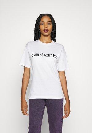 SCRIPT - Print T-shirt - white / black