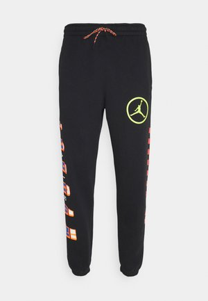 PANT - Tracksuit bottoms - black/cyber