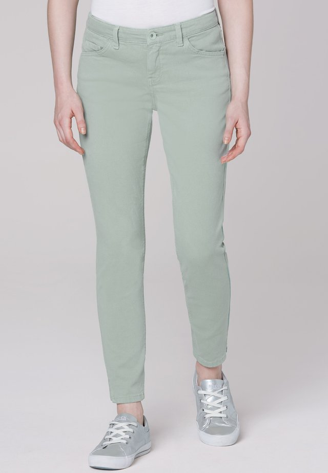 Slim fit jeans - sage green