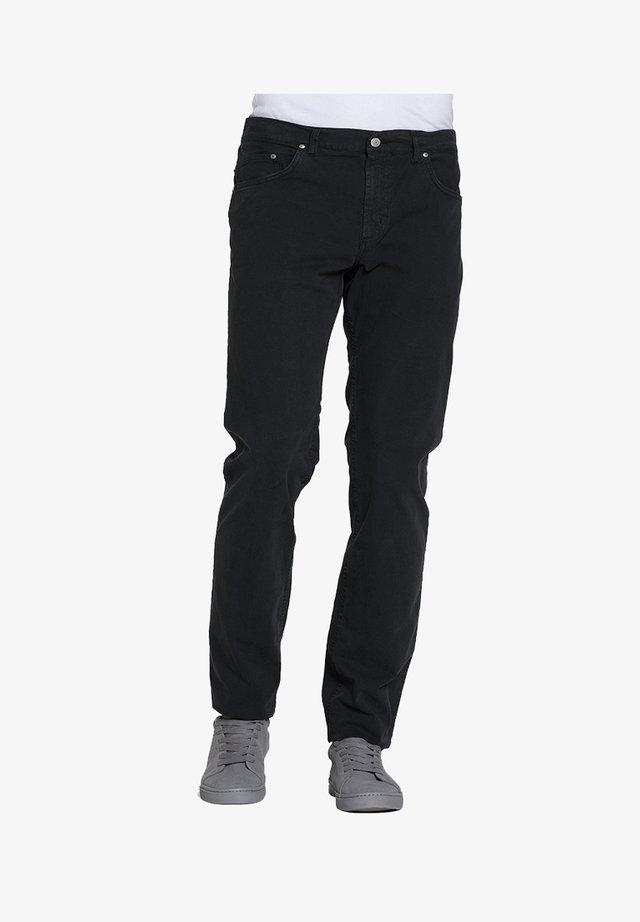 PANTALONE PER UOMO, TINTA UNITA, TESSUTO IN TELA - Jeans a sigaretta - nero