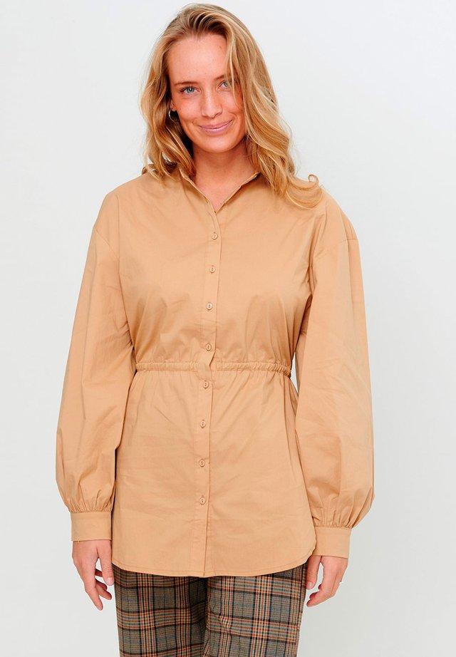 Overhemdblouse - camel