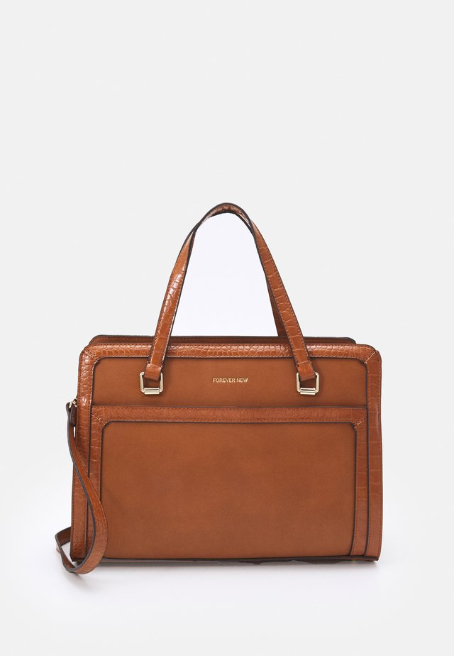 VERA BORDER LAPTOP BAG - Computertasker - tan