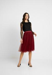 Lace & Beads - VAL SKIRT - A-line skirt - burgundy - 1