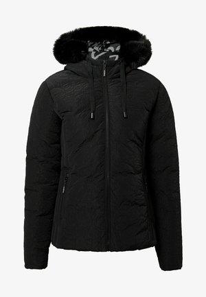 SLIM PADDED JACKET HOOD - Veste d'hiver - black