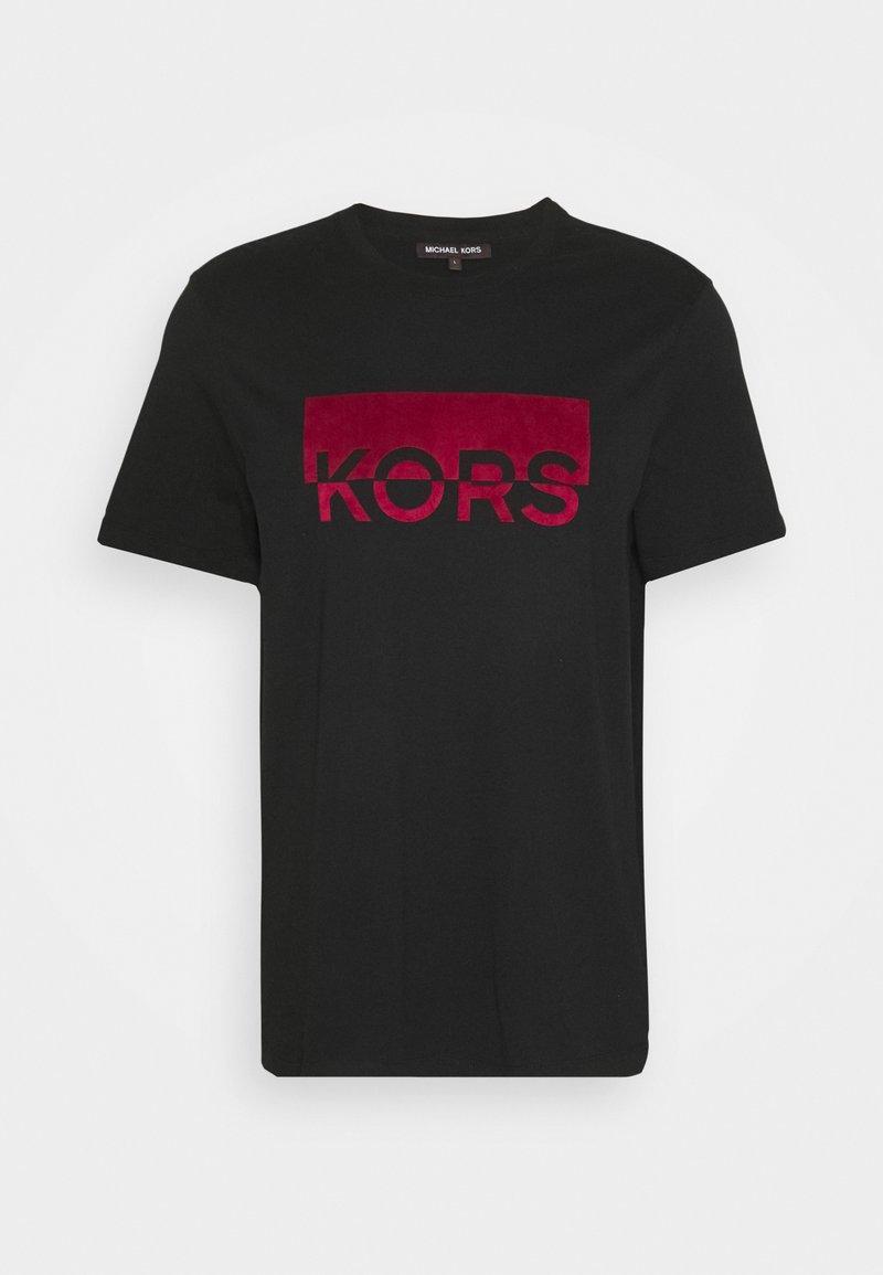 Michael Kors SPLIT BLOCK TEE - T-Shirt print - black/schwarz QGc8Sz