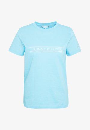 REGULAR - Print T-shirt - sail blue