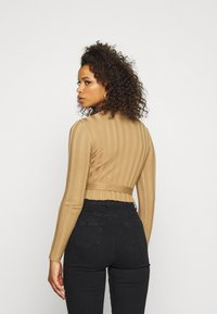 Missguided Tall - SHELL LONG SLEEVE - Jumper - brown - 2