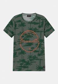 Brunotti - BEN UNISEX - Print T-shirt - vintage green - 0