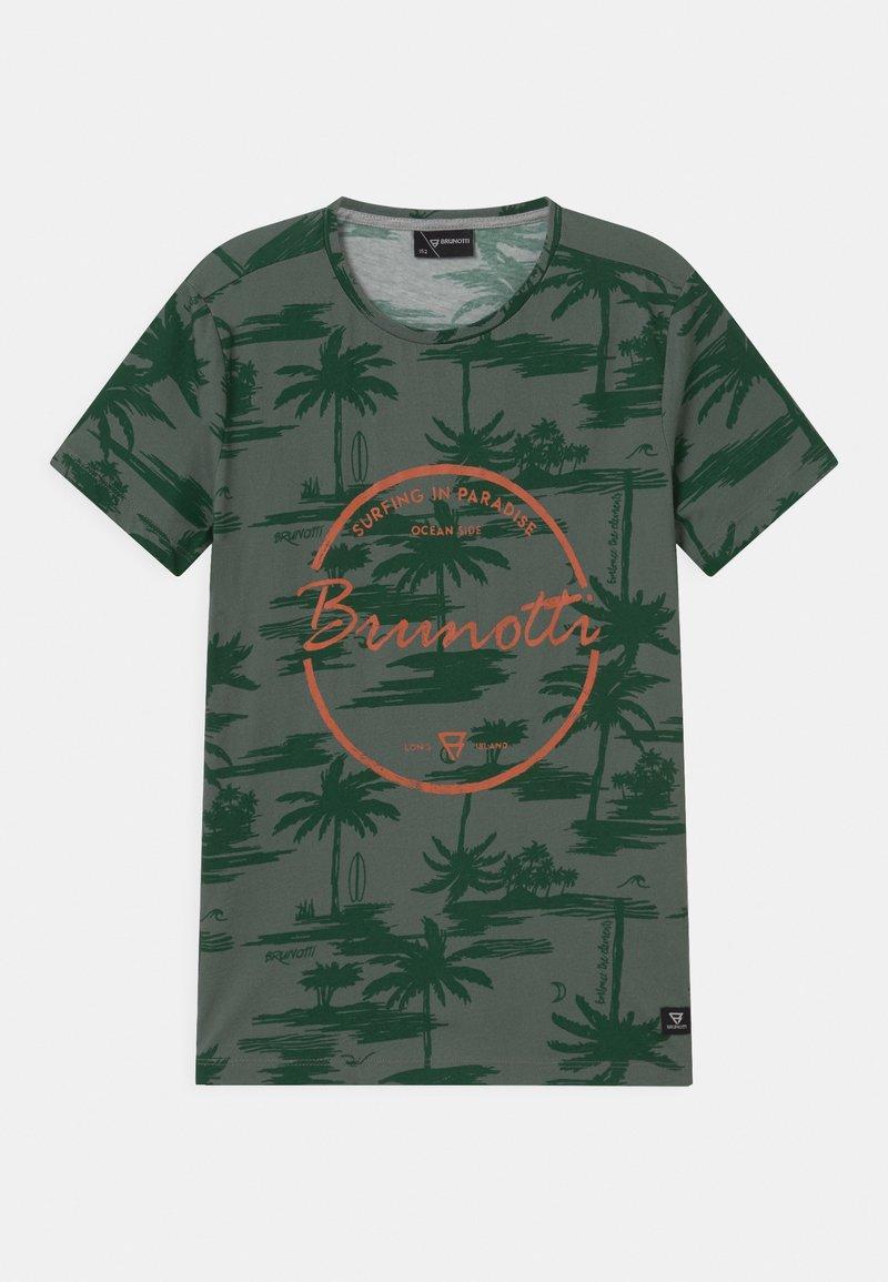 Brunotti - BEN UNISEX - Print T-shirt - vintage green
