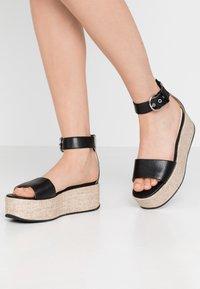 Vagabond - FELICIA - Platform sandals - black - 0