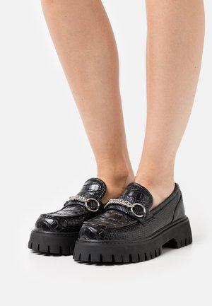 VEGAN BION - Slip-ons - black