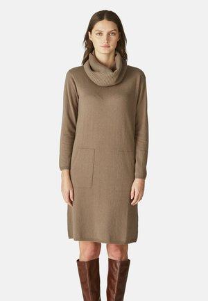 Jumper dress - brown, beige
