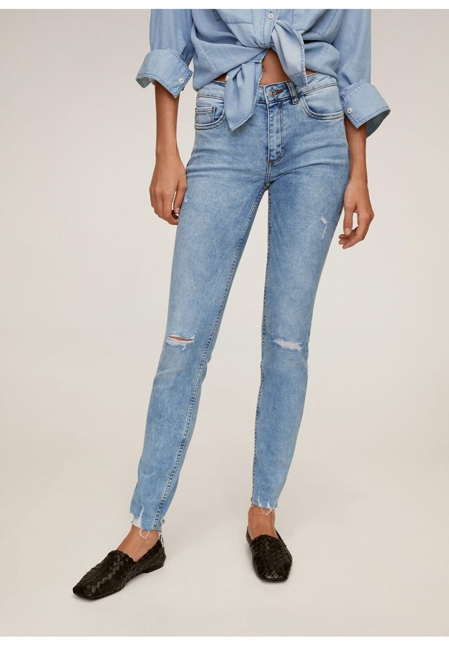 KIM - Jeansy Skinny Fit - bleach-blau