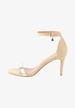 LABASSA - Sandales à talons hauts - beige