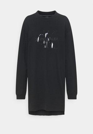 TONAL MONOGRAM DRESS - Day dress - black