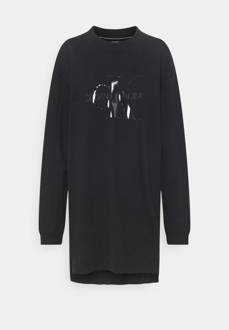 Calvin Klein Jeans - TONAL MONOGRAM - Kjole - black
