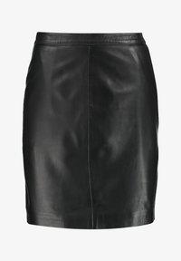 Object - OBJCHLOE SKIRT - Leather skirt - black - 3