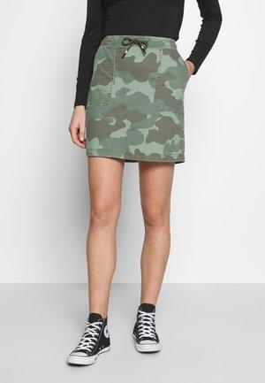SKIRT - Denim skirt - khaki green