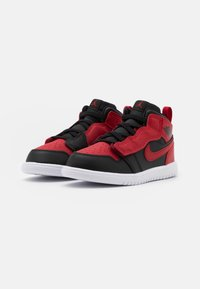 Jordan - 1 MID ALT UNISEX - Basketball shoes - black/gym red/white - 1