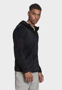 adidas Performance - ADIDAS Z.N.E. FULL-ZIP VELOUR HOODIE - Zip-up hoodie - black - 3