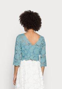 Esprit Collection - LACE SHIRT - Print T-shirt - dark turquoise - 2