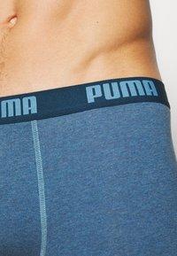 Puma - BASIC BOXER 6 PACK - Panties - denim/true blue/aqua /blue - 8