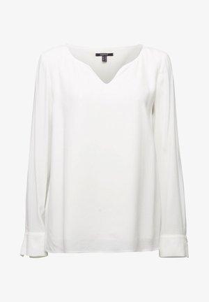 MIT KELCH-AUSSCHNITT - Blouse - off white