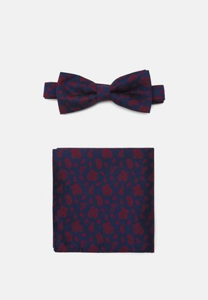 ONSTAJ PATTERN BOWTIE SET - Mouchoir de poche - dark navy/red