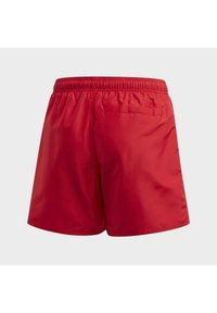 adidas Performance - BADGE OF SPORT PRIMEGREEN REGULAR SWIM SHORTS - Swimming shorts - red - 3