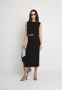 Noisy May - NMANKER SET - Shift dress - black - 1