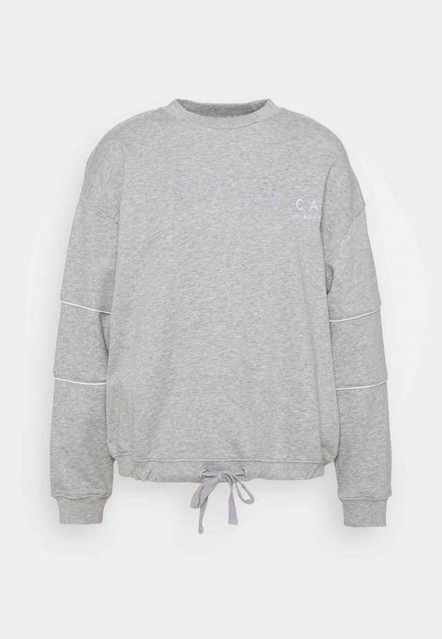 DRAWSTRING JUMPER - Sweatshirt - grey marle