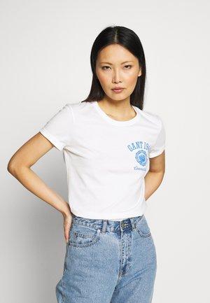 PEONY LOGO GRAPHIC - Print T-shirt - eggshell