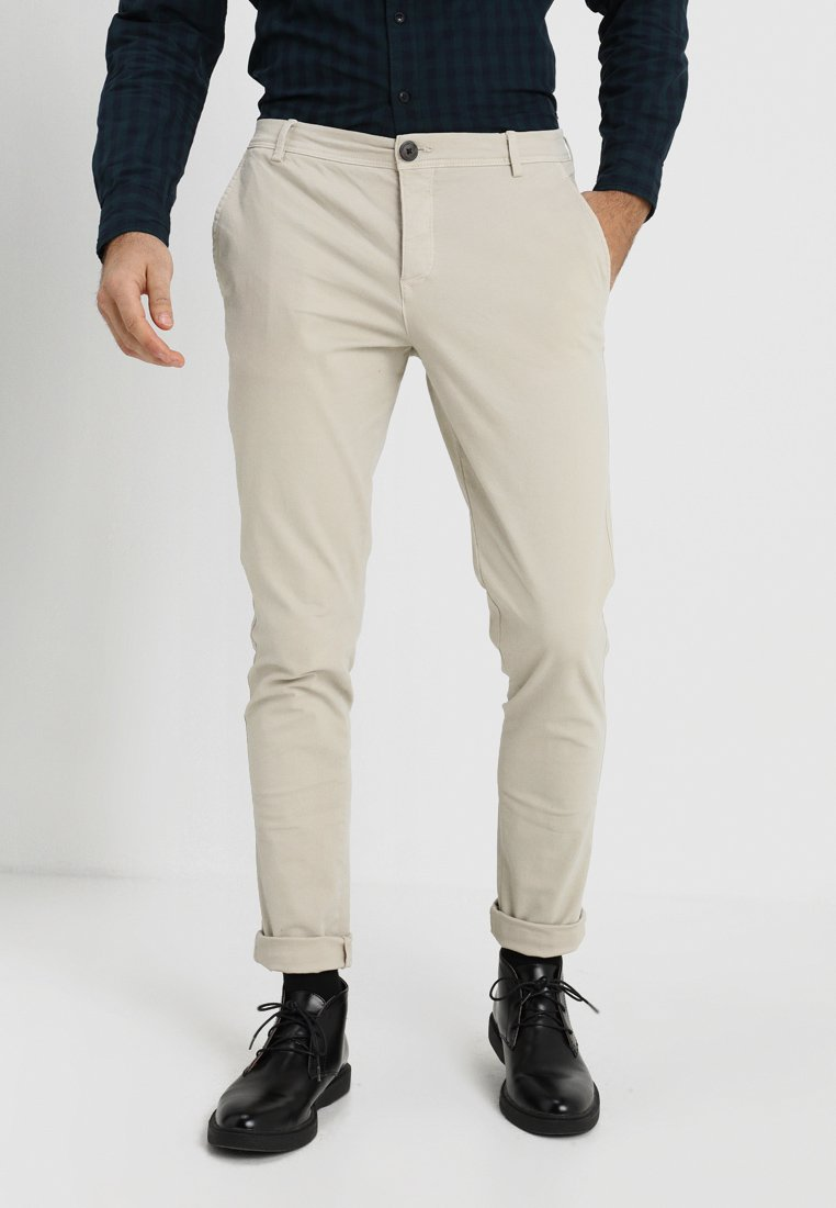 Selected Homme - SLHSKINNY LUCA  - Chinos - silver lining