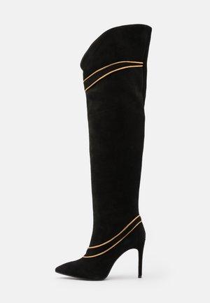 SILLA  - Boots med høye hæler - nero/antik gold