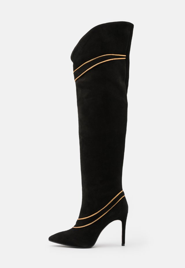 SILLA  - Stivali con i tacchi - nero/antik gold