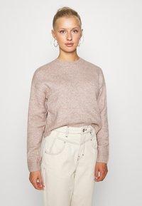 New Look - CROP - Sweter - mid pink - 0