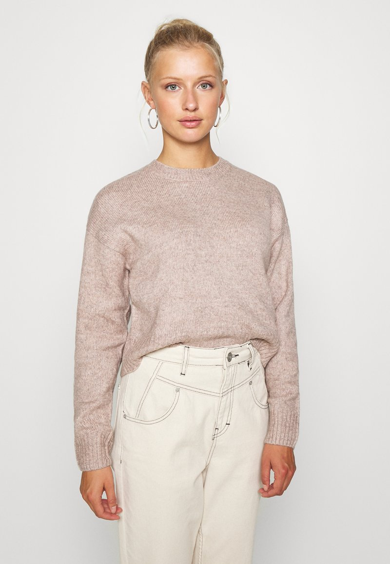 New Look - CROP - Sweter - mid pink