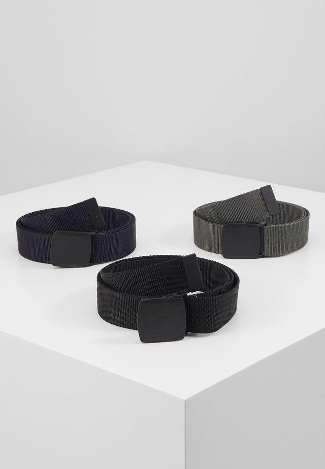 3 PACK UNISEX  - Belte - black/dark blue/grey