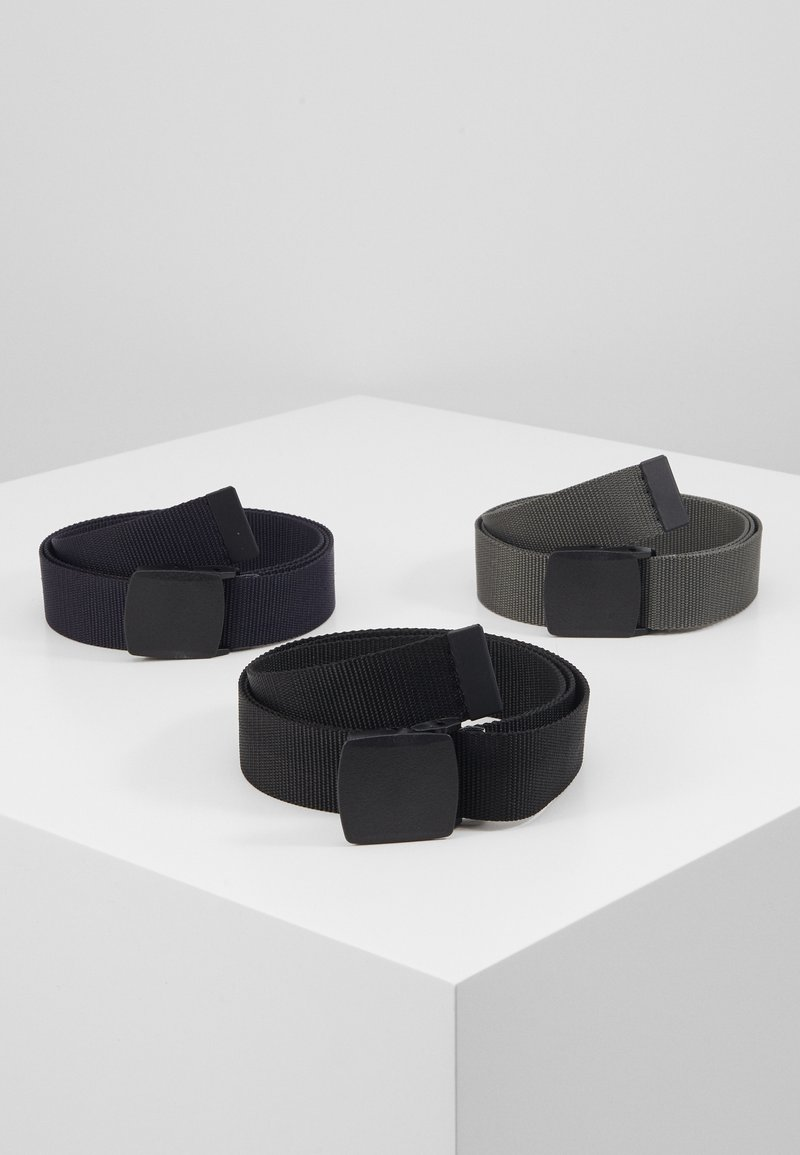Pier One - 3 PACK UNISEX  - Riem - black/dark blue/grey