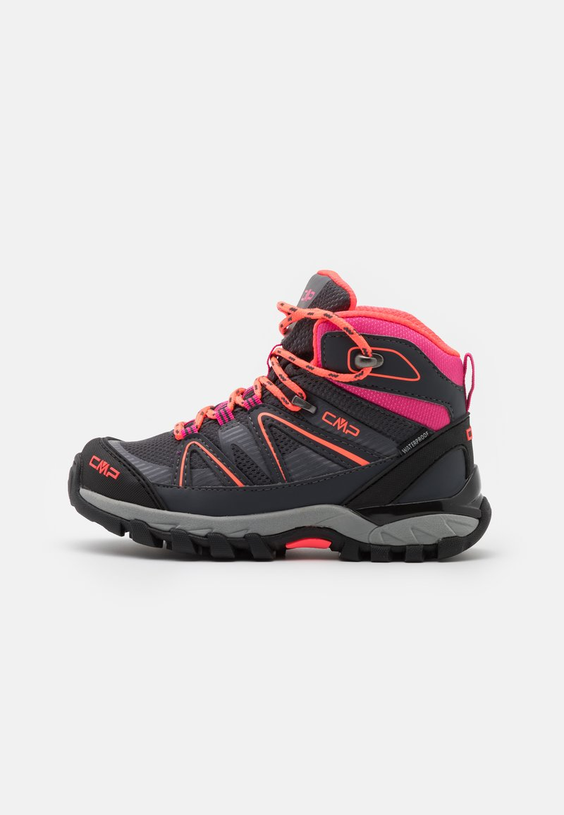 CMP - KIDS SHEDIR MID SHOE WP UNISEX - Hiking shoes - antracite/red fluo