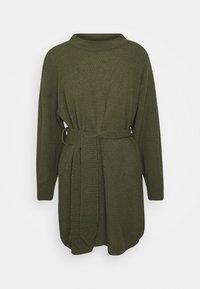 Glamorous Petite - TIE WAIST JUMPER DRESS - Jumper dress - forest green - 5
