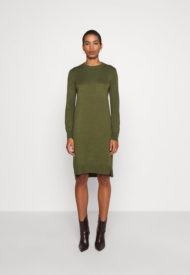 DAVILA DRESS - Neulemekko - army green melange