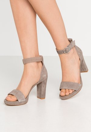 High heeled sandals - grey
